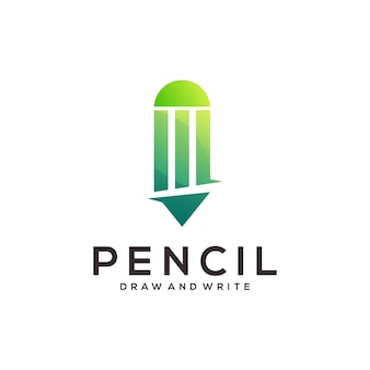 Crayon logo dégradé coloré