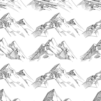 Crayon modèle sans couture de montagnes