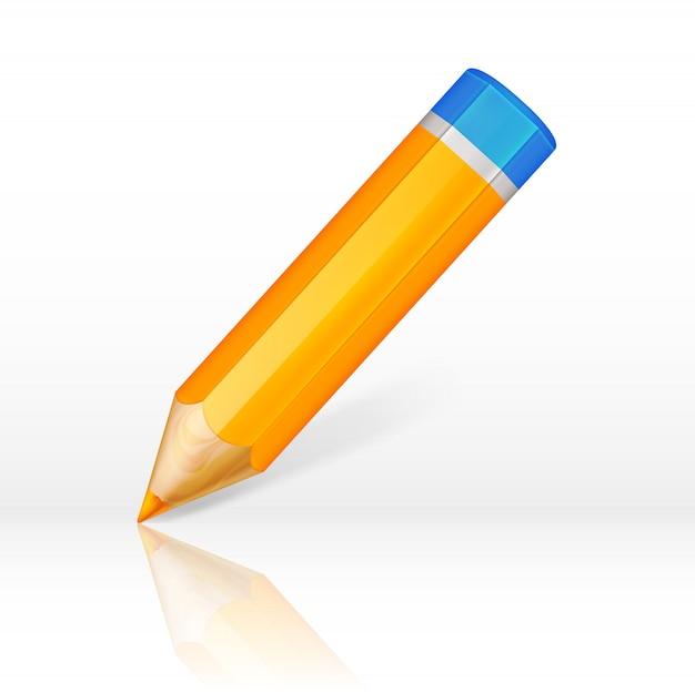 Crayon orange très détaillé isolé