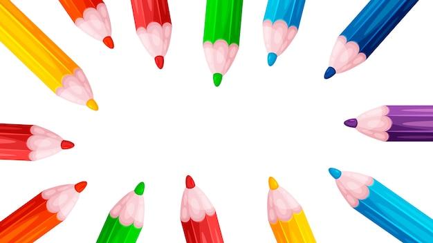 Crayon de papier peint, couleur, cercle, croquis crayons de couleur