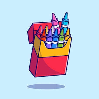 Crayon style de dessin animé plat