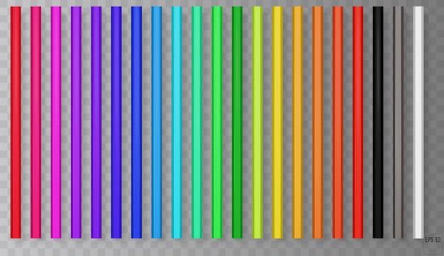Crayons en bois pour l'enseignement scolaire.
