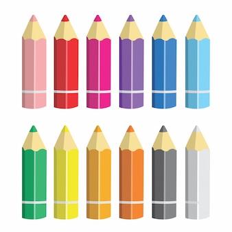 Crayons de couleur dessin animé