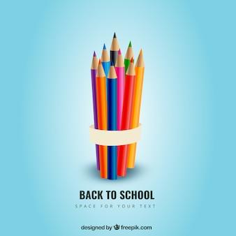 Crayons de couleur pour retourner à l'école