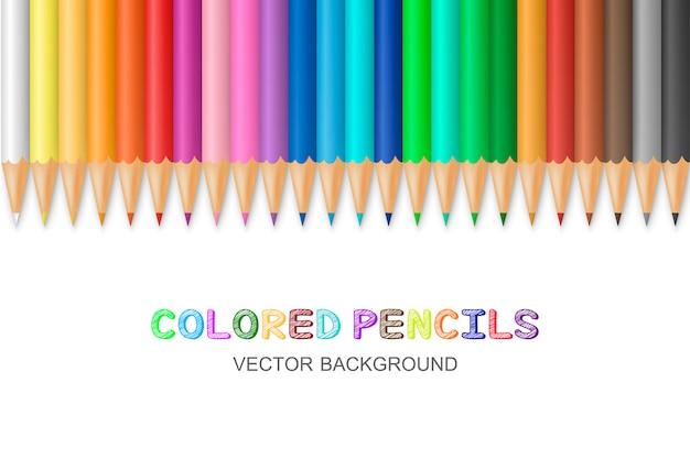 Crayons de couleur vecteur