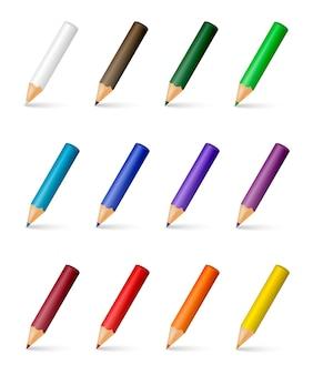 Crayons de couleur de vecteur