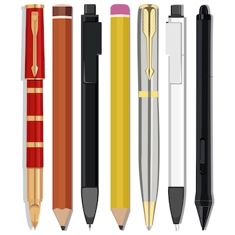 Crayons et stylos