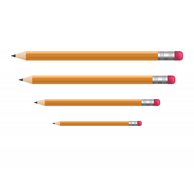 Crayons tranchants en bois jaune