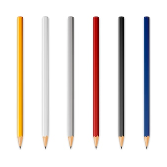 Crayons tranchants en bois