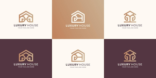 Créateur de collection de design de maison de luxe. maison de conception minimale, inspiration, résumé, bâtiment.