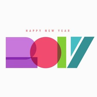 Créatif 2017 lettrage dans un style coloré