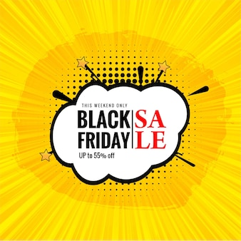 Créatif élégant de vente vendredi noir