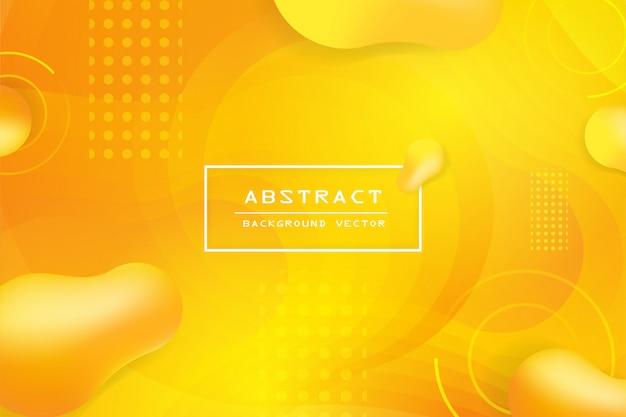 Créatif forme géométrique et fluide minimale avec fond orange et jaune.