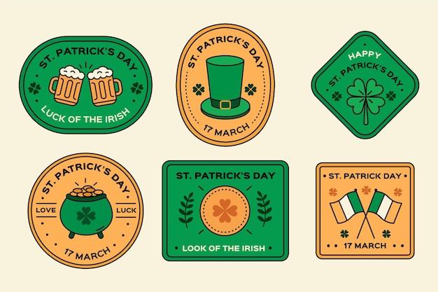 Créatif st. pack d'étiquettes patrick's day
