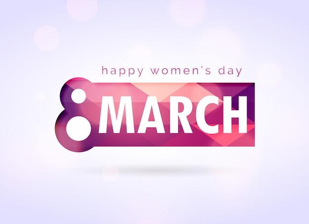 Créatif womans heureux salutation jour conception de fond