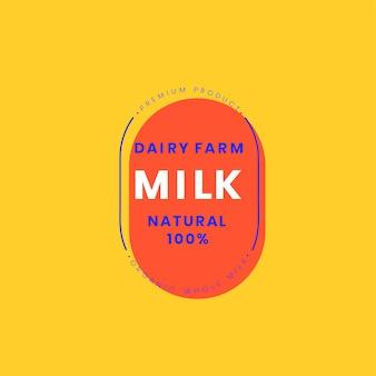 Création de badge logo lait de ferme laitière