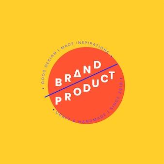 Création de badge logo produit