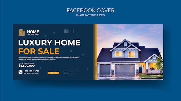 Création de bannière de chronologie de couverture facebook de l'immobilier créatif