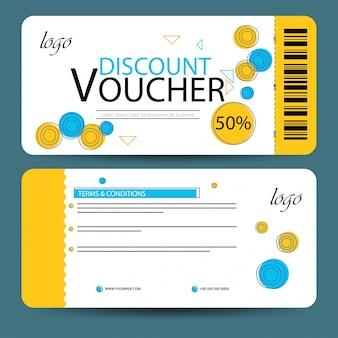 Création de bons de réduction, carte-cadeau ou modèle de coupon.