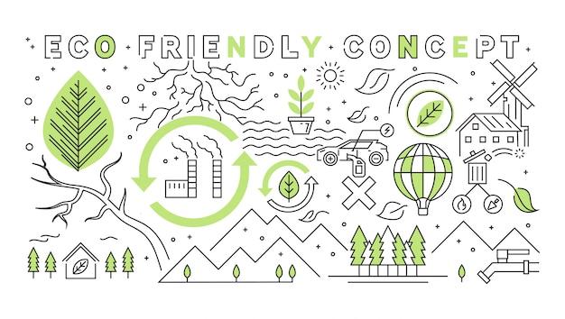Création d'un concept de conception de ligne plate de démarrage. éléments de démarrage doodle geometric.