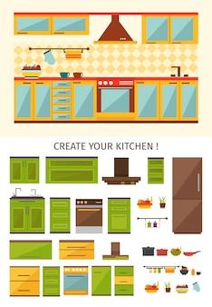 Création de cuisine intérieure