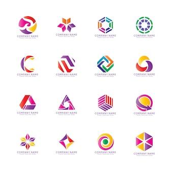 Création de logo vectoriel coloré.