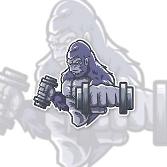 Création du logo gorilla gym