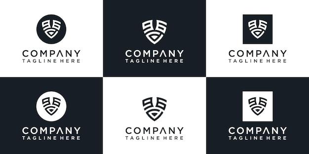 Création du logo initial monogramme du bouclier