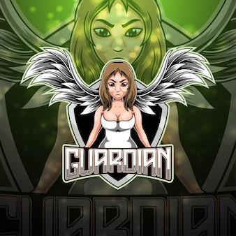 Création du logo de la mascotte angel esport