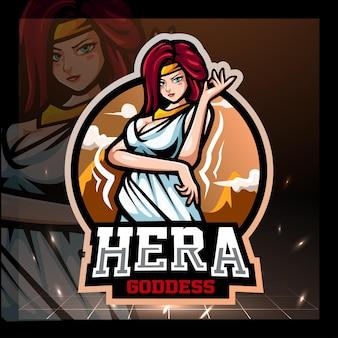 Création du logo de la mascotte de l'empereur hera