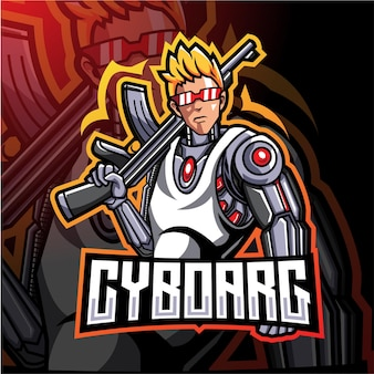 Création du logo de la mascotte esport des artilleurs cyborg