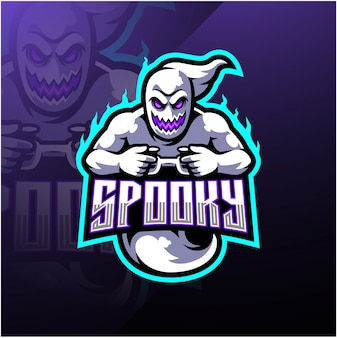 Création du logo de la mascotte esport fantôme fantasmagorique