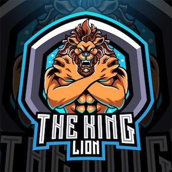 Création du logo de la mascotte esport king lions