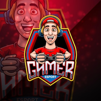 Création du logo de la mascotte gamer esport