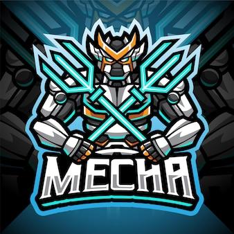 Création du logo de la mascotte mecha esport