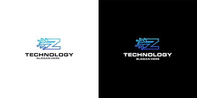 Création du logo nft de la technologie lettre z