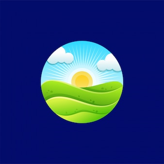 Création du logo sunrise