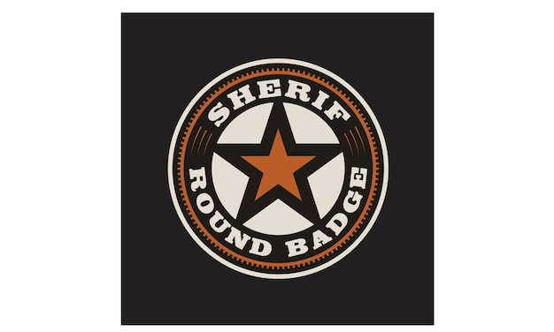 Création du logo texas sheriff / cowboy badge