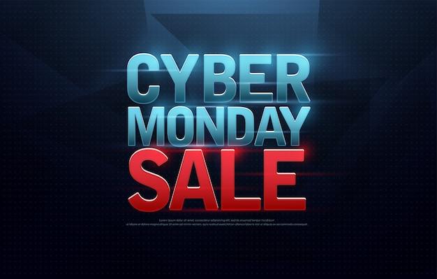Création du logo vente cyber lundi. achats numériques