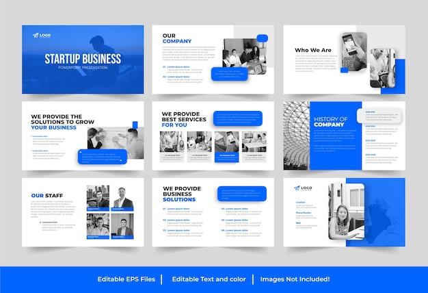 Création d'entreprise ou démarrage d'entreprise conception de présentation powerpoint