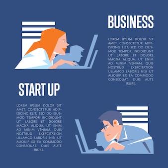 Création d'entreprise avec des hommes d'affaires