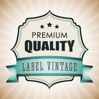 Création d'étiquettes vintage et rétro.