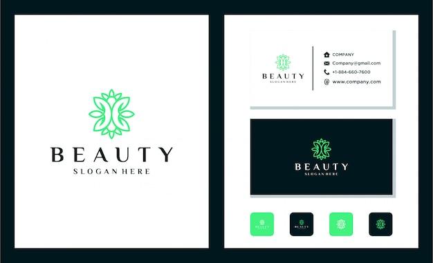Création d'icône logo feuille de beauté