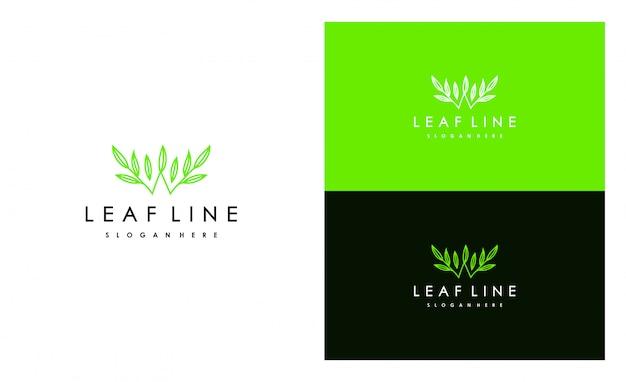 Création d'icône logo feuille