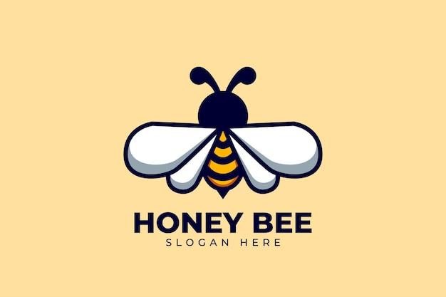 Création de logo d'abeille avec un concept moderne et créatif