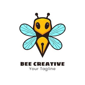 Création de logo d'abeille créative