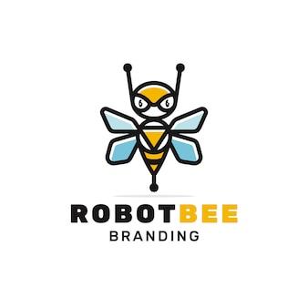 Création de logo d'abeille robot