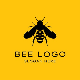 Création de logo d'abeille