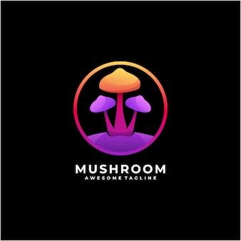 Création de logo abstrait coloré champignon moderne