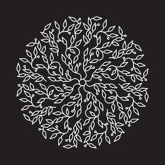 Création de logo abstrait de couleur blanche